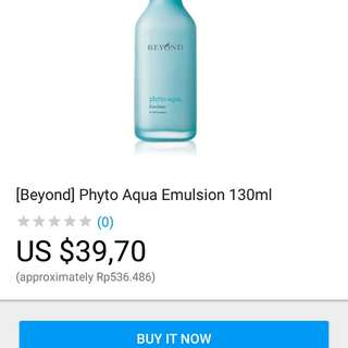 [Beyond BEYOND authorized dealer] [MD Best - Phyto Aqua Emulsion 130ml Beyond untuk pelembab dan mempertahankan kadar air kulit