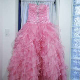 Preloved debut ball gown