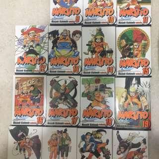 Naruto comic series 9 to 23 (15 books)