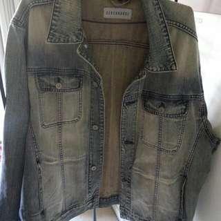 Vintage Denim jacket .. stonewash Unisex...Xxxl or size 20 plus