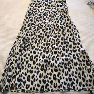 Spell and the gypsy leopard print wild split skirt size 6