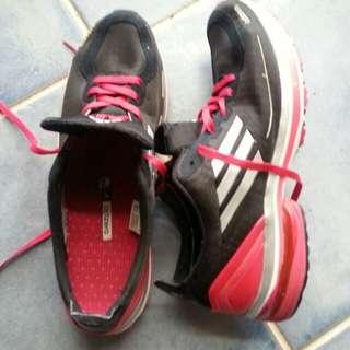 Sneakers  as new Black/white adidas adizero  fits size 8.5-9 us