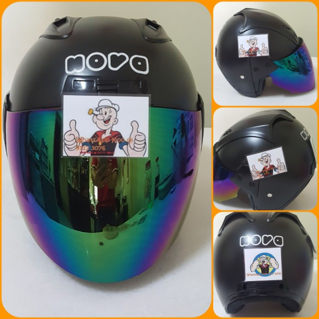 2011*** Nova Helmet For Sale 😁😁Thanks To All My Buyer Support 🐇🐇 Yamaha, Honda, Suzuki, Motorbikes, Motorbike Apparel on Carousell