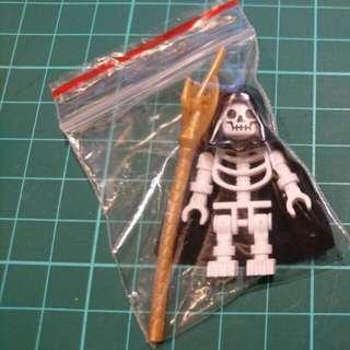 骷髏法師  (附送披風、法杖) (新年促銷包郵) 積木 人仔 Lego 樂拼