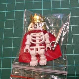 骷髏王  (附送披風、電鍍刀仔) (新年促銷包郵) 積木 人仔 Lego 樂拼