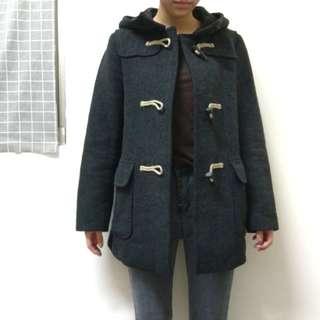 (降價!!!)UNIQLO羊毛混紡牛角釦外套大衣