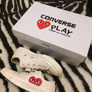 CDG Play Converse Sneakers WOMENS 6