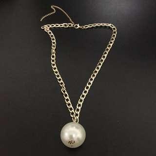 Large gold singular Pearl costume jewellery