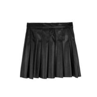 Black Leather Tennis Skirt