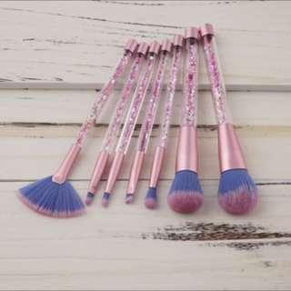 Glitter makeup brushes