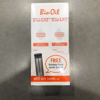 BIO-OIL 200ML x 2PCS + FREE OUTDOOR FLASK