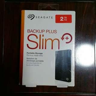 "Seagate 2TB Portable HDD Hard Disk Drive Backup Plus 2.0 TB external 2.5"" Portable"