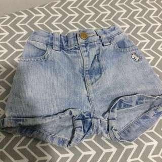 PONEY short jeans 6-12m