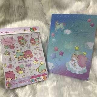 Twin Stars牆貼+日本製A4 File