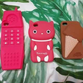 Rubber case bundle iphone 4/4s