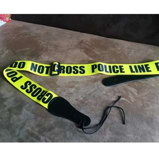 Guitar Stap Police Line Do Not Cross Limited Edition