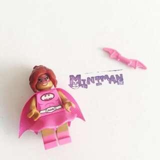 Miniman手作飾品 女版蝙蝠俠積木人偶鑰匙圈 樂高相容