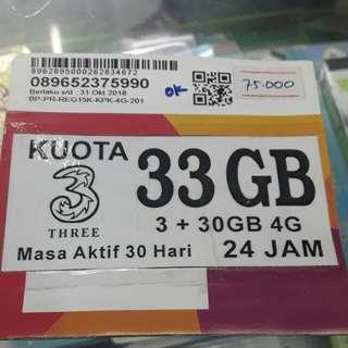 perdana kouta tri 33GB