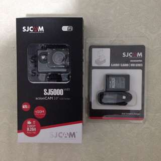[REPRICED] SJ5000 Wifi + Dual battery charger + Extra Battery