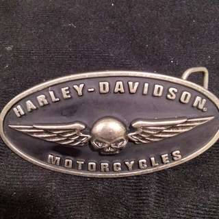 Harley Davidson Skull Wings Belt Buckle