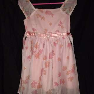 COLOR PEACH BAPTISMAL OR BIRTHDAY GOWN FOR BABY GIRLS