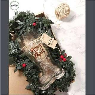 Santa's glass boot or beer jug?!