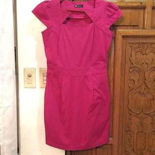 Fuchsia Pink Space dress