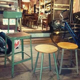 Vintage Americana。復古事 復古 工業風 椅子 椅凳