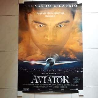 2004 Leonardo Dicaprio Aviator Movie Poster