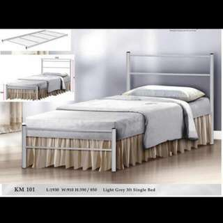 Classic White Single Metal Bed Frame