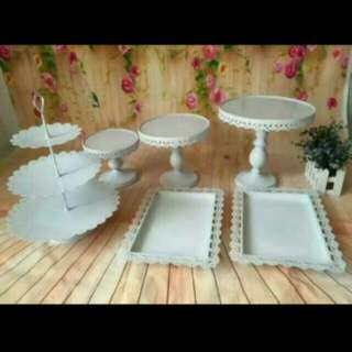 RENTAL - Cake Stands, 3 Tiers Cupcake Stand, Lace Trays, Ferris Wheel Cupcake Holder, Glass Jars, Table Cloth, Lightbox And Chocolate Fondue Machine!