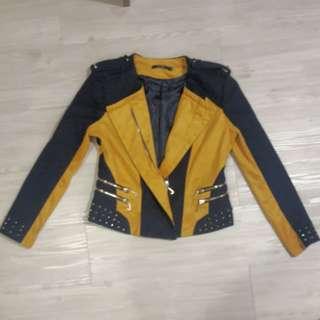 Jovian Mandagie Limited Edition Studded Navy Mustard Jacket