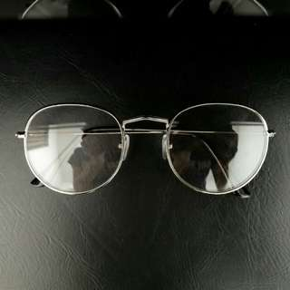 INSTOCK [silver] [round circle oval] Korean spectacles Korean specs ulzzang
