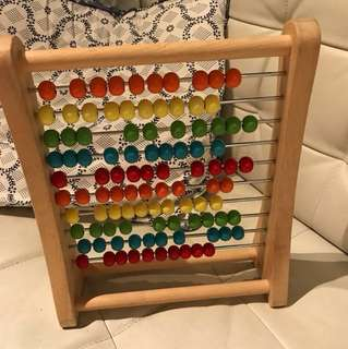 Baby bead counting abacus