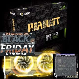 Palit GTX 1060 Dual GeForce® 6GB GDDR5. (Offer till 27 Nov...17) While Stock Last..