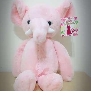 粉紅大象玩偶(全新品)
