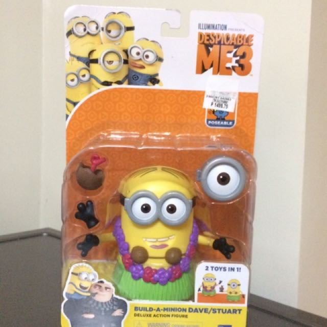 2-in-1 Despicable Me Minion Dave and Stuart by Thinkway