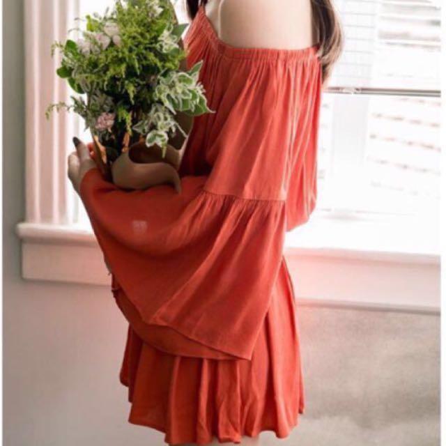 原價580💖Mercci22 一字領寬袖洋裝 #雙十一女裝出清#手滑買太多