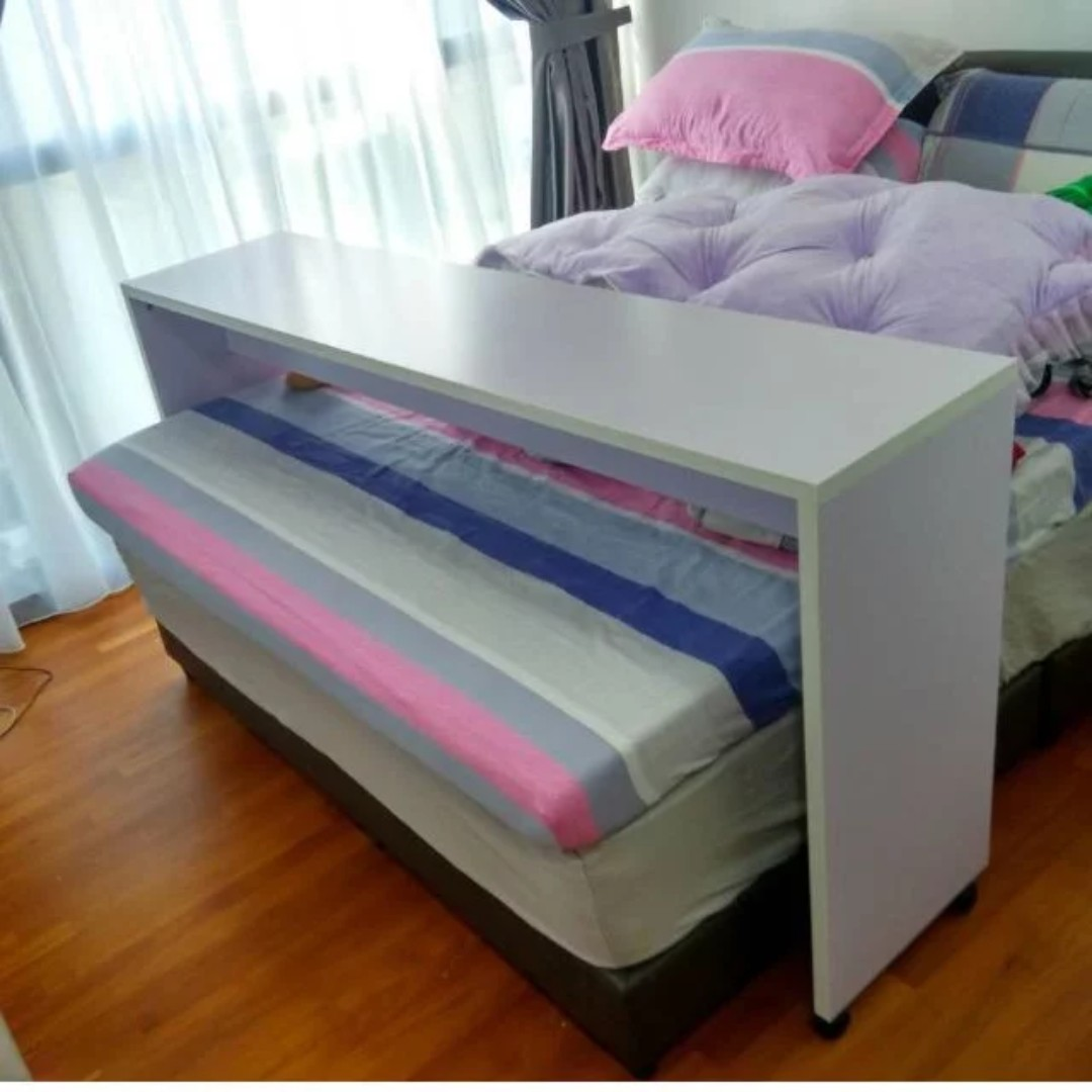 $28 | Over bed table for QueenSize Bed (with wheel), Furniture