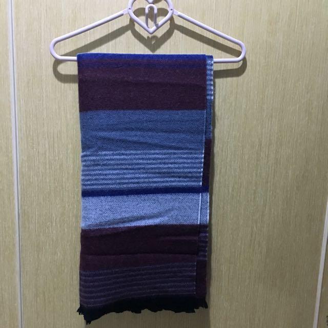 蠟筆色塊圍巾