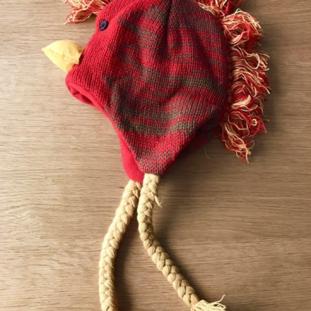 可愛公雞保暖帽