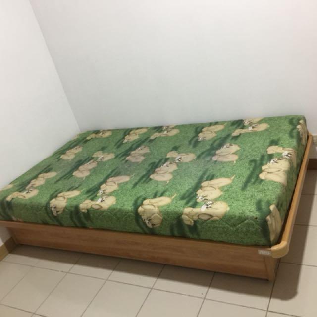 單人床墊+床架(是掀床喔)