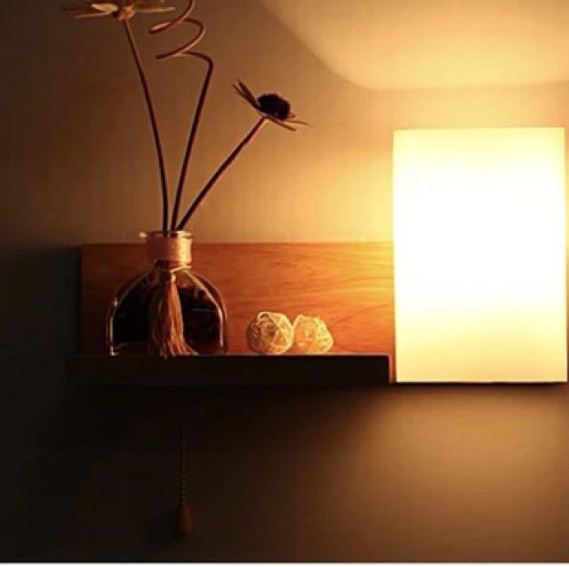 北歐日式風床頭壁燈玄關壁燈帶開關