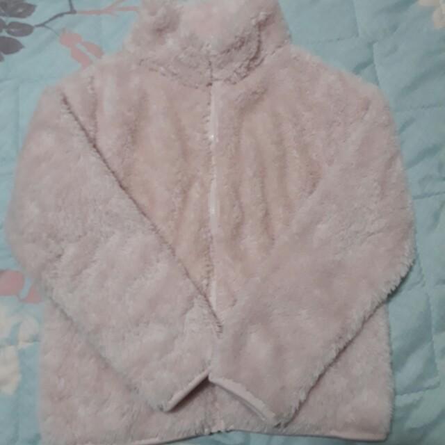小女童 粉色毛茸茸外套