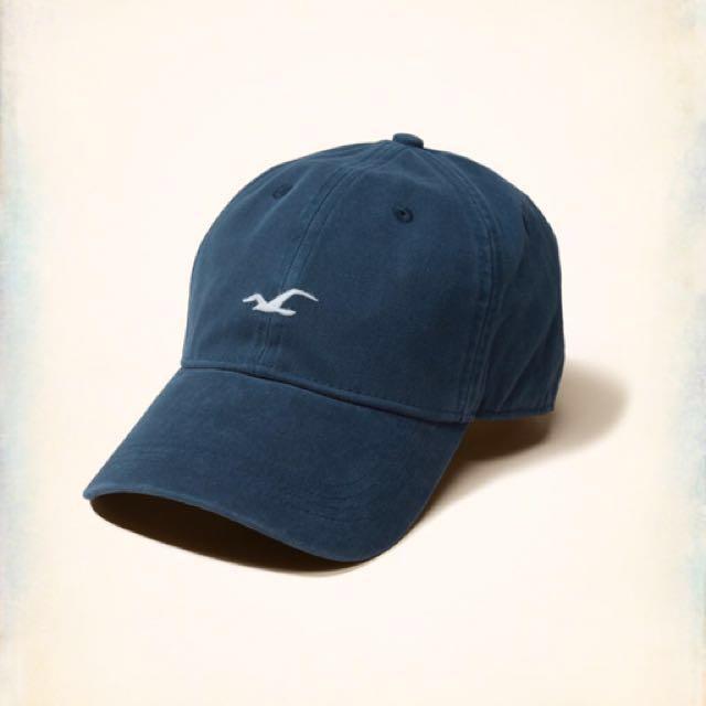 全新正品 女帽 老帽 HOLLISTER 海鷗 水洗藍