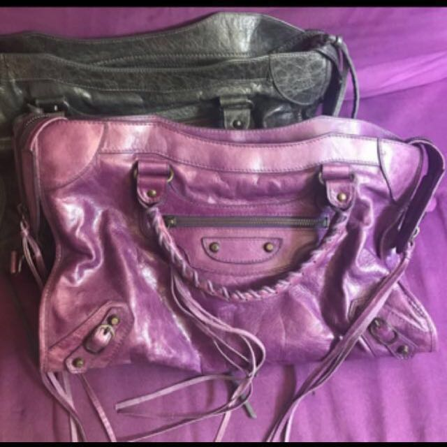 羊皮 機車包 city 非balenciaga chanelburberry紫手提包肩背包後背包