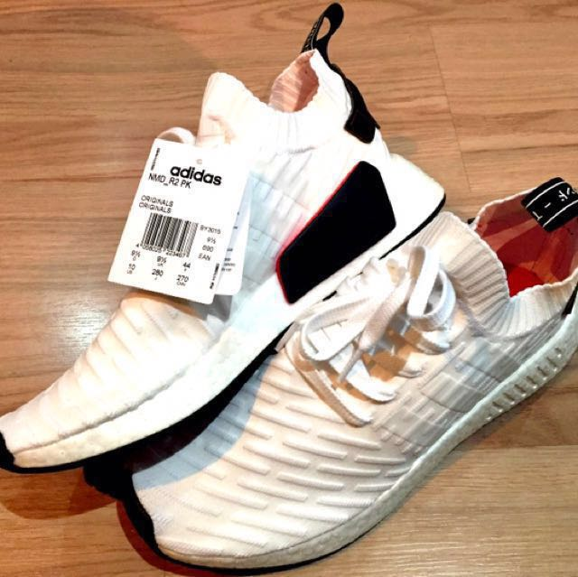 d1bd6d1760ff3 Adidas NMD R2 Primeknit BY3015 (White   Red)