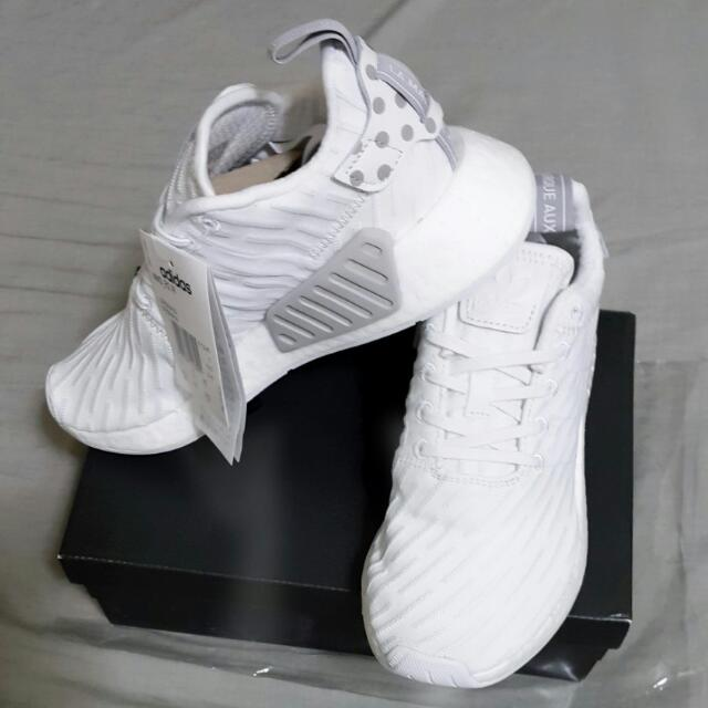 adidas originals NMD_R2運動休閒鞋 白色 US6.5 23.5cm 全新 正品女生 BY2245