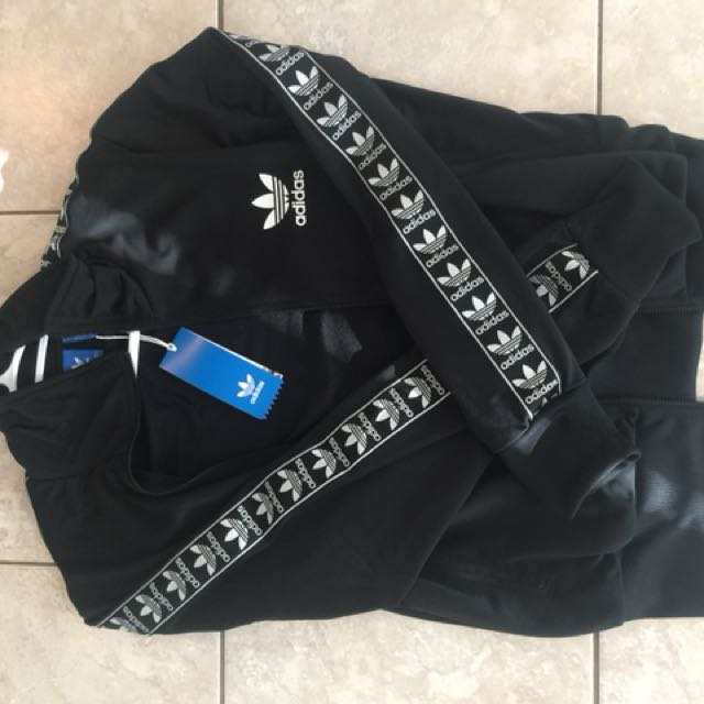 Adidas tape zip up jacket
