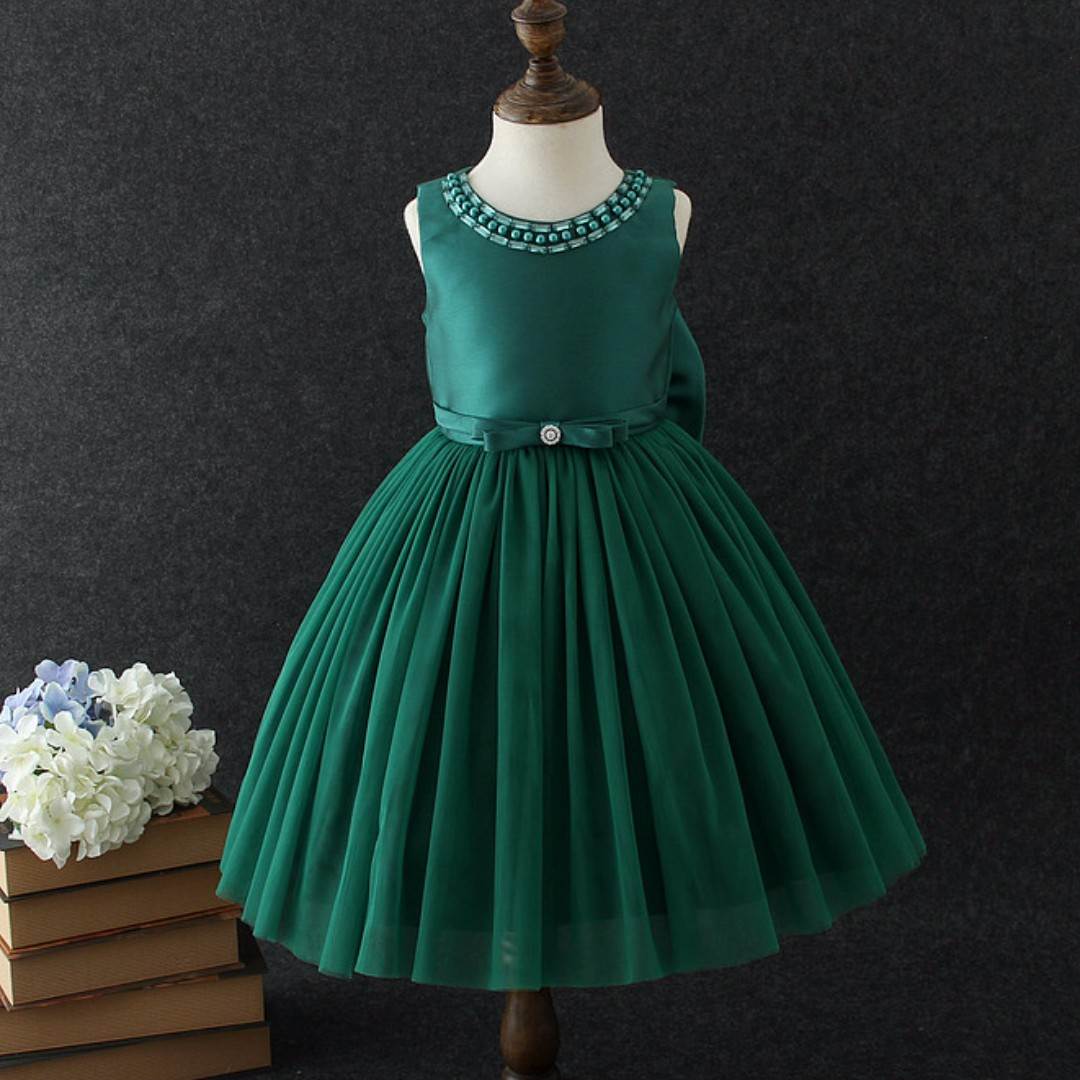 Amelia Green Party Dress Formal Birthday Fancy